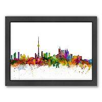 Americanflat Michael Tompsett ''Toronto Skyline'' Framed Wall Art