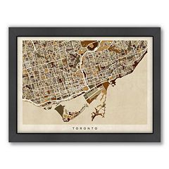 Americanflat Michael Tompsett ''Toronto Street Map'' Framed Wall Art