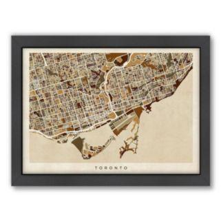 Americanflat Michael Tompsett ''Toronto Street Map'' Framed Wall Art