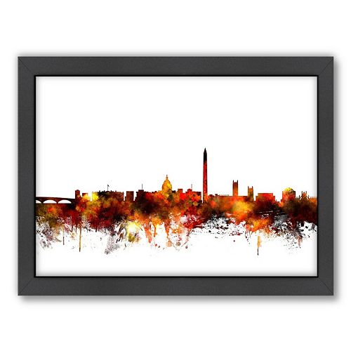 Americanflat Michael Tompsett ''Washington DC Skyline'' Framed Wall Art