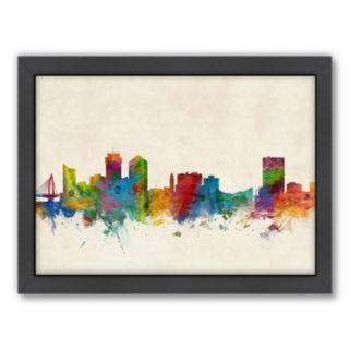 Americanflat Michael Tompsett ''Wichita, Kansas Skyline'' Framed Wall Art