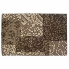 Linon Ashton Floral Wool Rug