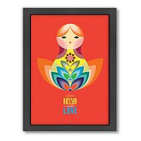 Americanflat Patricia Pino ''Matrioska Doll'' Framed Wall Art