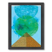 Americanflat Paula Mills ''Golden'' Framed Wall Art