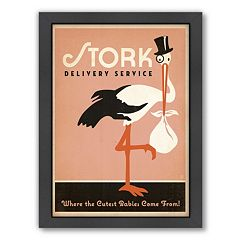 Americanflat 'Stork' Framed Wall Art