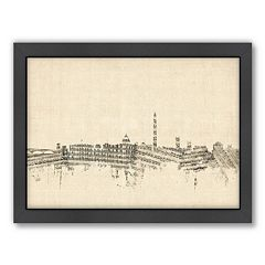 Americanflat ''Washington, D.C. Music Cityscape'' Framed Wall Art