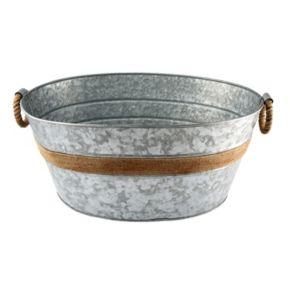 Cambridge Shiloh Galvanized Round Party Tub