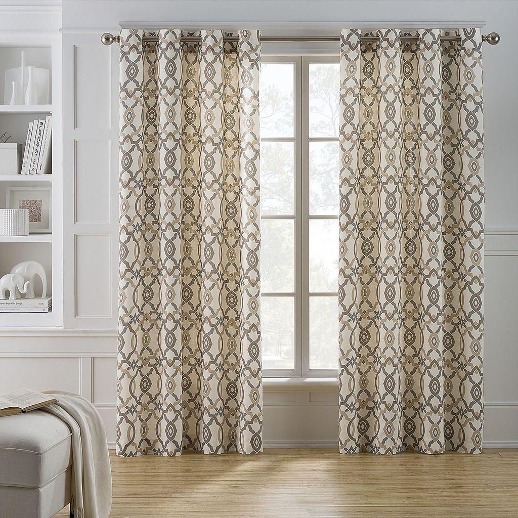 Keeco Kent Geometric Window Curtain
