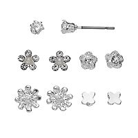 LC Lauren Conrad Flower & Butterfly Stud Earring Set