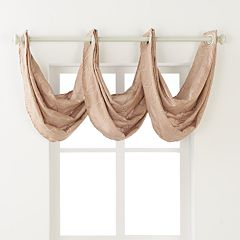 Regent Court Gramercy Faux Silk Waterfall Window Valance - 24'' x 24''
