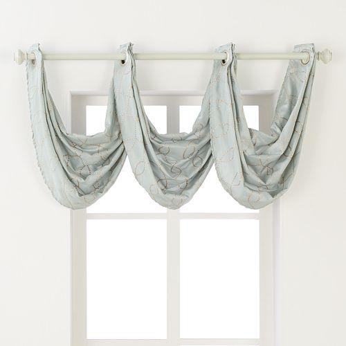 Regent Court Gramercy Faux Silk Waterfall Window Valance - 24'' x 24''