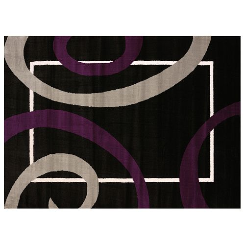 United Weavers Cristall Metro Plum Geometric Rug
