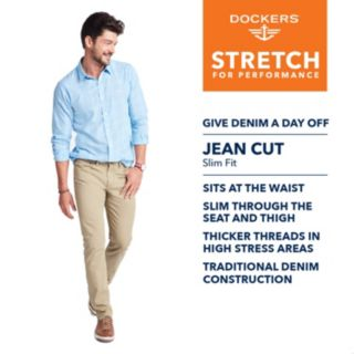 Men's Dockers® Jean Cut D1 Slim-Fit Twill Stretch Pants