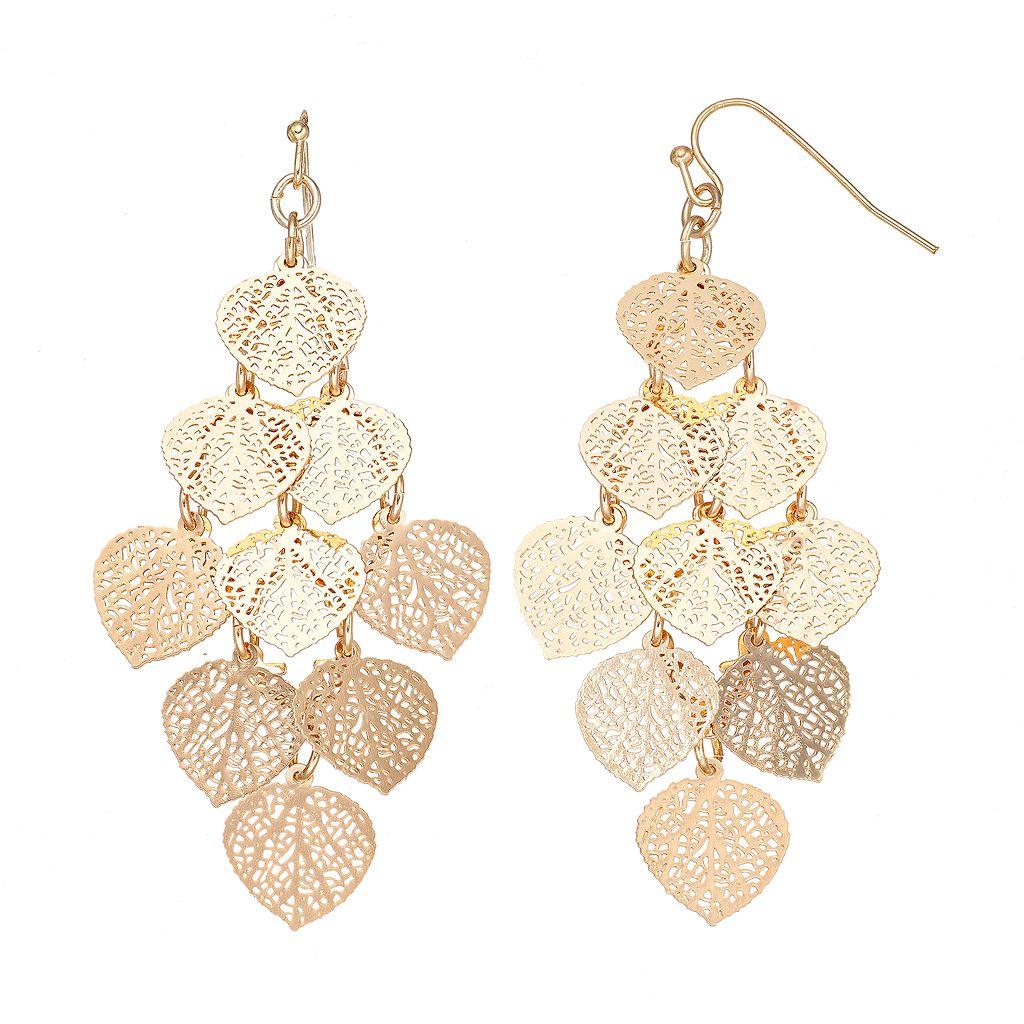 LC Lauren Conrad Filigree Dangle Earrings