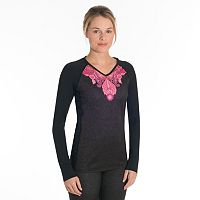 Women's Snow Angel Veluxe Paisley V-Neck Base Layer Top