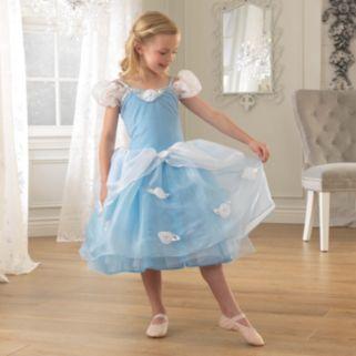 KidKraft Girls Dress-Up Blue Rose Princess Dress