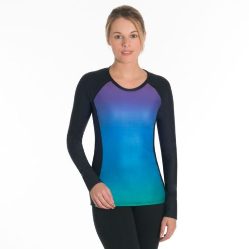 Women's Snow Angel Doeskin Rainbow Microfleece Base Layer Top