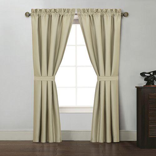 Ellison Kyle II 2-pk. Tieback Window Curtains