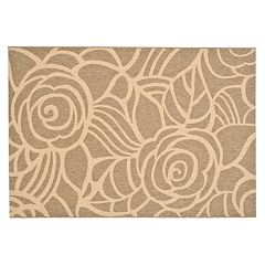 Safavieh Courtyard Floral Swirl Indoor Outdoor Rug