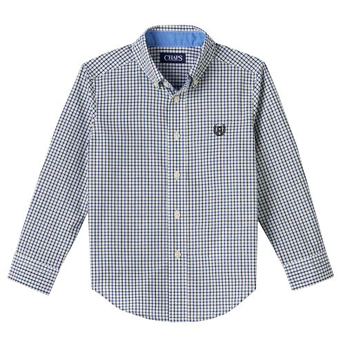 Toddler Boy Chaps Embroidered Plaid Button-Down Shirt