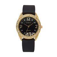 Studio Time Women's Floating Crystal Watch