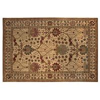 Linon Rosedown Ornate Framed Floral Wool Rug