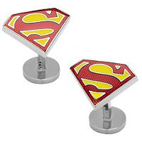 DC Comics Textured Superman Shield Cuff Links
