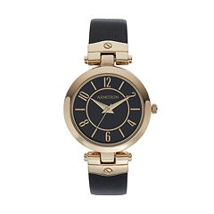 Armitron Women's Leather Watch - 75/5338BKGPBK