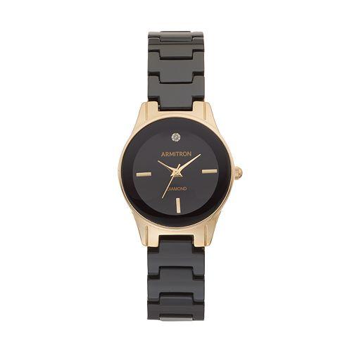 Armitron Women's Diamond Ceramic Watch