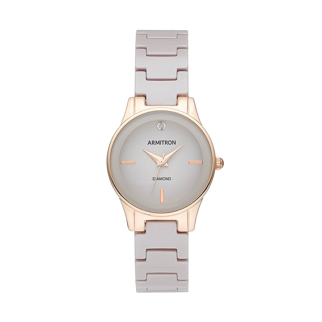 Armitron Women's Diamond Ceramic Watch - 75/5348TPRG