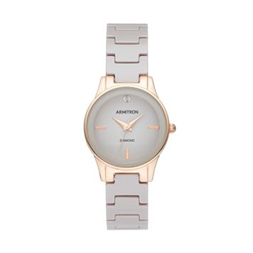 Armitron Women's Diamond Ceramic Watch - 75/5348TPRG