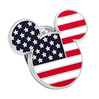 Disney's Mickey Mouse Head American Flag Lapel Pin