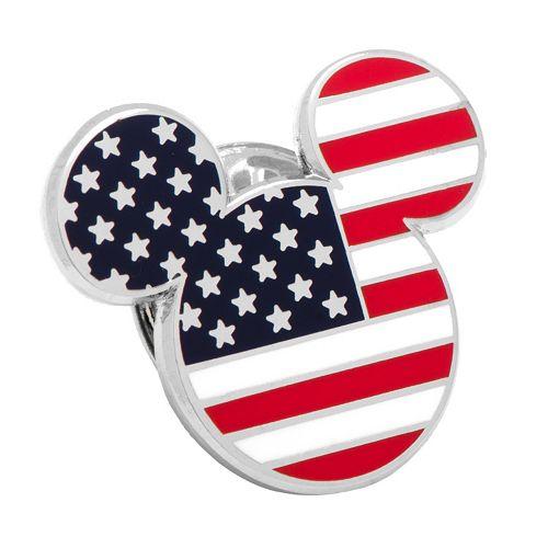 Disney's Mickey Mouse Head American Flag Lapel Pin