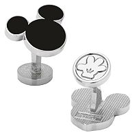 Disney's Mickey Mouse Black Silhouette Cuff Links