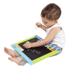 Boikido Wooden 2-Sided Magnetic Chalkboard / Dry-Erase Board