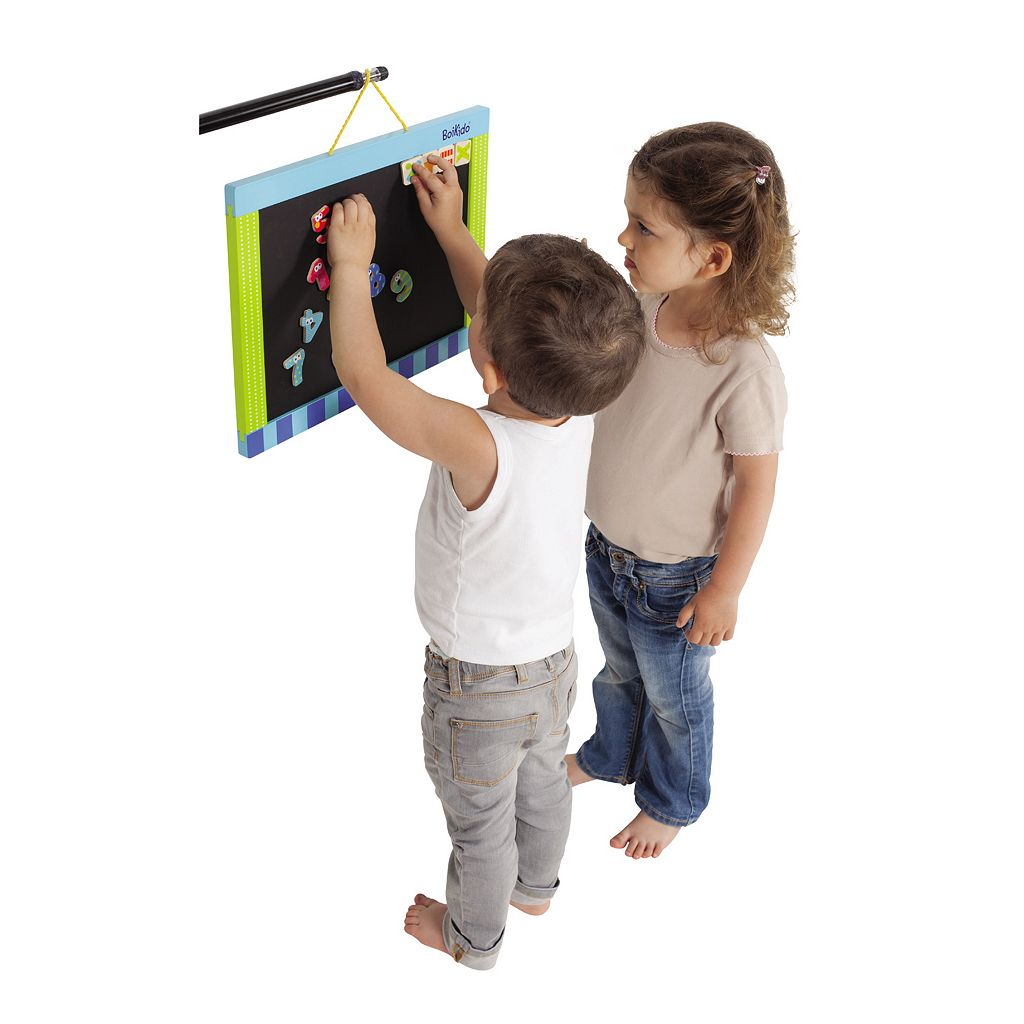 Boikido Wooden 2-Sided Magnetic Chalkboard / Dry-Erase Board