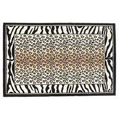 Linon Capri Framed Animal Print Rug - 4'3'' x 7'3''