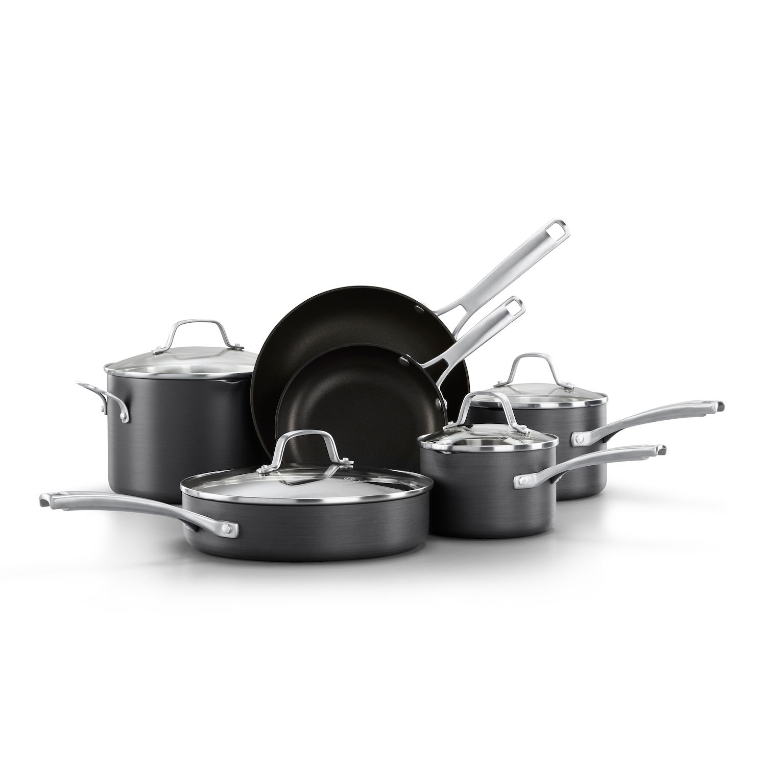 calphalon classic 10pc aluminum nonstick cookware set
