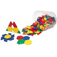 Learning Resources Plastic Pattern Blocks Set