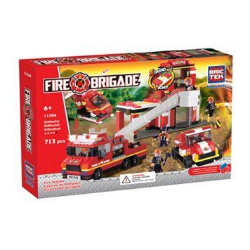 BricTek Fire Station with Light & Sound