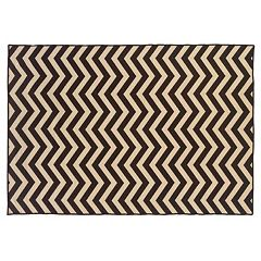 Linon Salonika Chevron Reversible Wool Rug - 5' x 8'