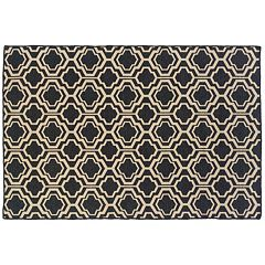 Linon Salonika Double Quatrefoil Reversible Wool Rug - 5' x 8'