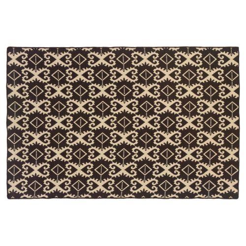 Linon Salonika Ikat Reversible Wool Rug – 5′ x 8′