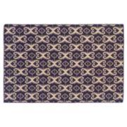 Linon Salonika Ikat Reversible Wool Rug - 5' x 8'