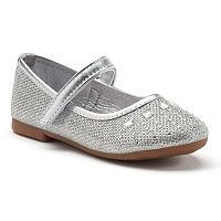 Rugged Bear Toddler Girls' Glitter Mary Jane Shoes