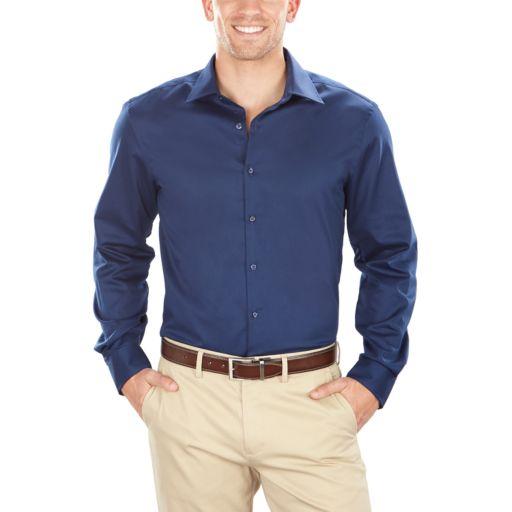 Men's Van Heusen Slim-Fit Flex Spread-Collar Dress Shirt