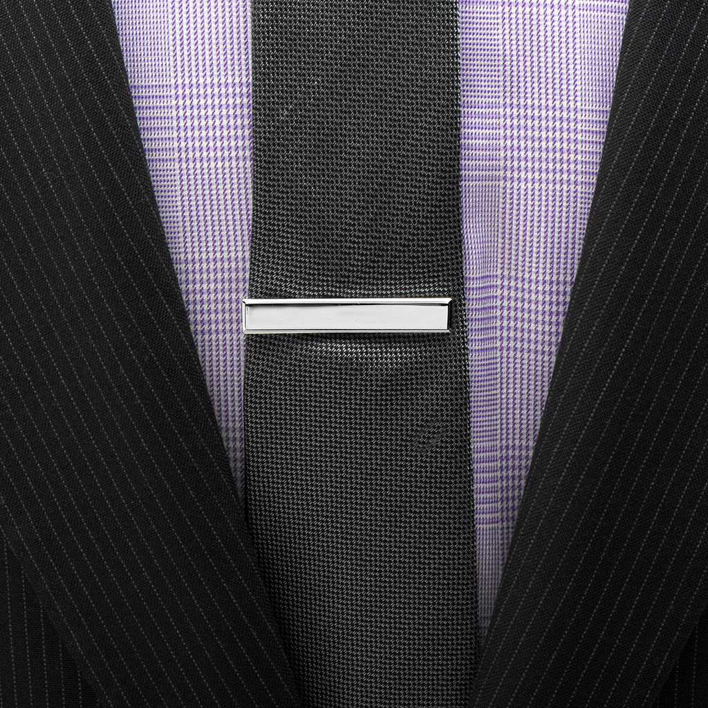 Beveled Frame Short Tie Clip