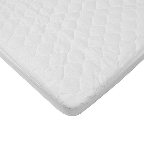 TL Care Organic Quilted Waterproof Mini Crib Fitted Mattress Pad Cover