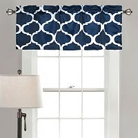 Lush Decor Geo Blackout Window Valance - 18'' x 54''