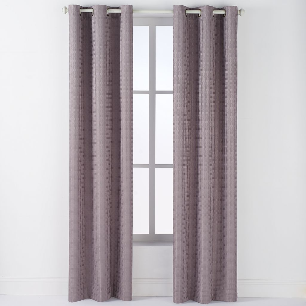 Arlee 2-pk. Lynette Geometric Jacquard Blackout Grommet Window Curtain - 84'' x 40''